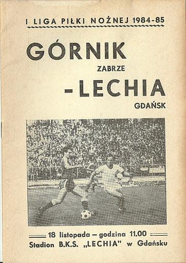 Program meczowy Lechia - Górnik Zabrze